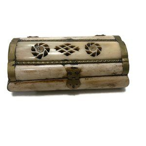 Other - Brass and bone trinket box